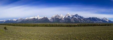 Großartiger Teton-Gebirgszug Stockfoto