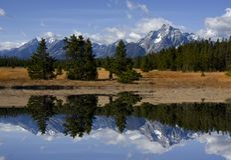 Großartiger Teton Nationalpark lizenzfreie stockfotos