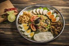 Großartiger würziger Salat Lizenzfreies Stockbild