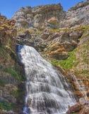 Großartiger Wasserfall in Ordesa und in Monte Perdido National Park stockfotos