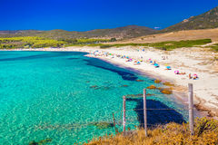 Großartiges Capostrand neach Ajjacio, Korsika, Europa Lizenzfreie Stockfotos