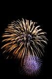 Großartiges Feuerwerk Lizenzfreies Stockfoto