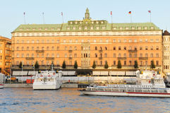 Großartiges Hotel, Stockholm Stockbild