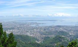 Großartiges Panorama und Luftstadtansicht von Rio de Janeiro Stockfoto