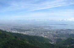 Großartiges Panorama und Luftstadtansicht von Rio de Janeiro, Brasilien Stockbilder