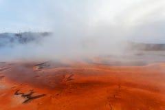 Großartiges prismatisches Becken des Sonnenuntergangs, Yellowstone Lizenzfreie Stockbilder