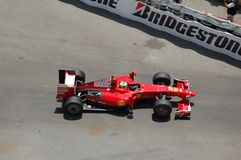 Großartiges Prix Monaco 2009, Ferrari von Kimi Raikkonen Lizenzfreie Stockfotos