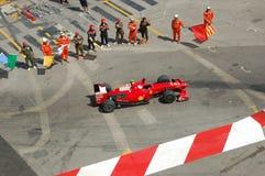 Großartiges Prix Monaco 2009, Ferrari von Kimi Raikkonen Stockbild