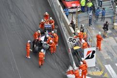 Großartiges Prix Monaco 2010, gebrochener Williams Lizenzfreies Stockfoto