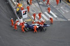 Großartiges Prix Monaco 2010, gebrochener Williams Stockbilder