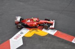 Großartiges Prix Monaco 2012 - Ferrari von Felipe Massa Lizenzfreie Stockfotos