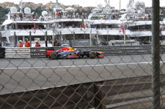 Großartiges Prix Monaco 2012 - Red Bull von Vettel Lizenzfreies Stockbild