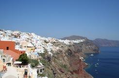 Großartiges Santorini. Stockfoto