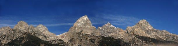 Großartiges Teton Panorama stockfotografie