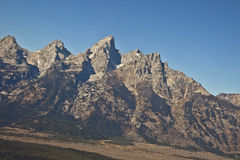 Großartiges Tetons von der Luft in Wyoming stockfotografie