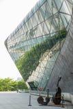 Großartiges Theater Guangzhou-Markstein Guangzhous Blaues Glasvorhangfeld, ein einzigartiger Auftritt des Theaters Stockfotografie