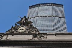 Großartiges zentrales Terminal und MetLife Gebäude Lizenzfreie Stockfotos