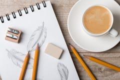 Großaufnahme der Tabelle des Künstlers oder des Designers Lizenzfreies Stockfoto