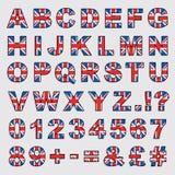 Großbritannien-Alphabet Stockfotografie