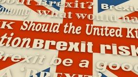 Großbritannien-Ausgang von der Europäischen Gemeinschaft Brexit stock video