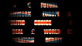 Großbritannien-Ausgang von der Europäischen Gemeinschaft Brexit stock footage