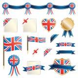 Großbritannien-Farbbänder und Dichtungen Stockfoto