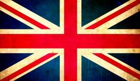 Großbritannien-Flagge, Schmutzbeschaffenheitshintergrund Stockfotografie