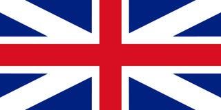 Großbritannien-Flaggen-König ` s Farben Zivil- und der Zustands-Fahne 3D Kranke Stockfoto
