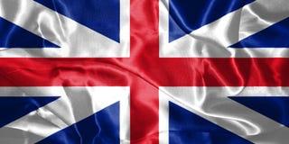 Großbritannien-Flaggen-König ` s Farben Zivil- und der Zustands-Fahne 3D Kranke Lizenzfreie Stockbilder
