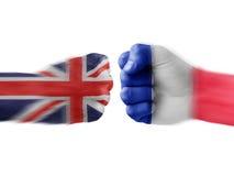 Großbritannien gegen Frankreich Lizenzfreies Stockbild