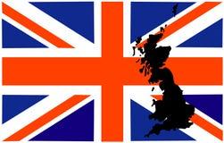Großbritannien-Markierungsfahne Stockbilder