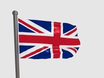 Großbritannien-Markierungsfahne Stockfotografie