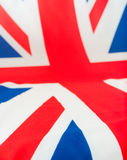 Großbritannien-Markierungsfahne Stockfotos