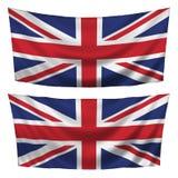 Großbritannien maserte horizontale Markierungsfahnen Lizenzfreie Stockbilder