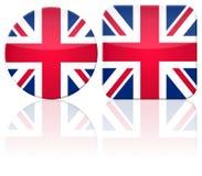 Großbritannien-Tastenmarkierungsfahne Stockbild