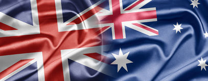 Großbritannien und Australien Lizenzfreies Stockfoto