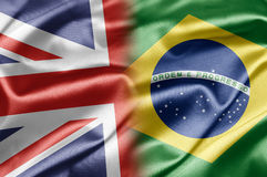 Großbritannien und Brasilien Lizenzfreie Stockbilder