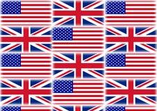 Großbritannien- und USA-Flaggenillustration vektor abbildung