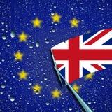 Großbritannien-Urlaub oder Lassen des Symbols der Europäischen Gemeinschaft Lizenzfreie Stockfotos