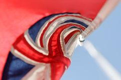 Großbritanniens rote Fahnemarkierungsfahne Stockfotos