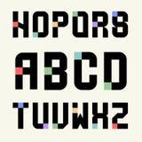 Großbuchstaben der Schablonen des Satz-2 von Blöcken mit Farbeinsätzen Lizenzfreie Stockfotografie