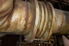Große alte industrielle Rohre Stockbilder