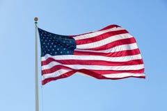 Große amerikanische Flagge, hintergrundbeleuchtet Lizenzfreie Stockfotos