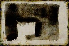 Große Anschläge des Pinsels auf Baumwollpapier Stockfotos