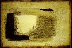 Große Anschläge des Pinsels auf Baumwollpapier Stockbild
