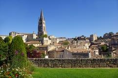 Große Ansicht über Saint Emilion Lizenzfreies Stockbild