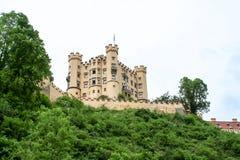 Große Ansicht eines Schlosses im Bayern stockbild