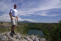 Große Ansicht, Kroatien stockfotografie
