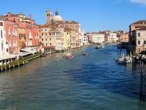 Große Ansicht Venedig-Kanals Lizenzfreie Stockfotografie