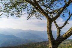 Große Ansicht von Barichara, Santander, Kolumbien Lizenzfreie Stockfotos